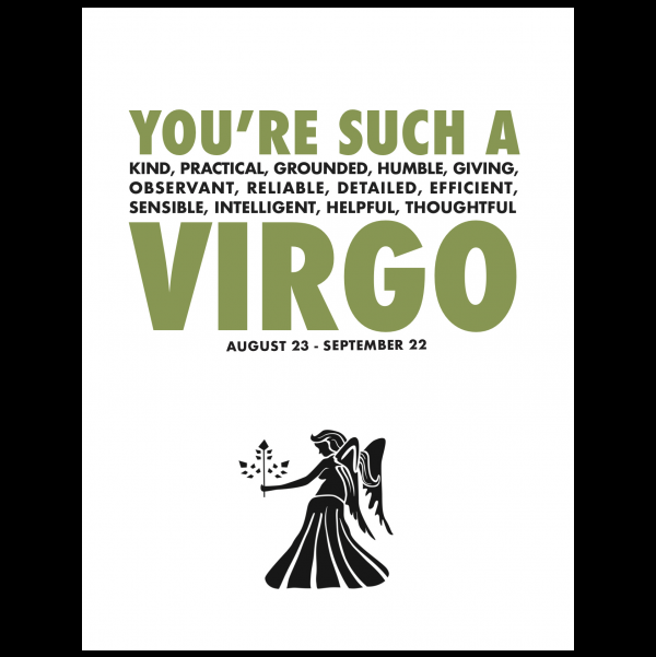 Virgo greeting card from the AstroCards collection.