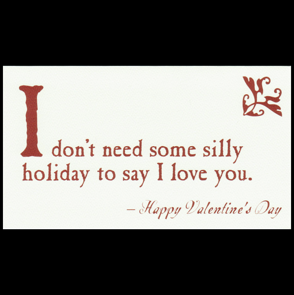 Quiplip Funny Valentines Day greeting card from the Blunt Cards – Blunt Cards Valentines