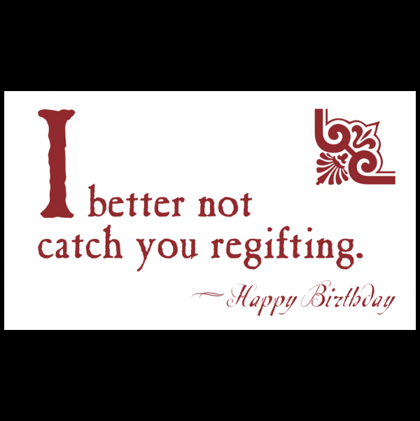 Birthday greeting card from the Blunt Cards collection.