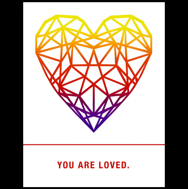 You are loved greeting card from the Empowerments collection.