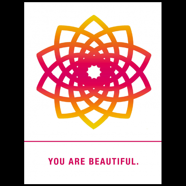 You are beautiful. greeting card from the Empowerments collection.