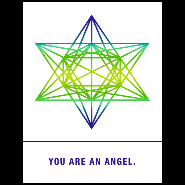 You are an angel. greeting card from the Empowerments collection.