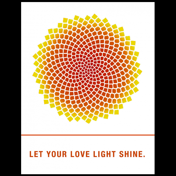 Let your love light shine. greeting card from the Empowerments collection.