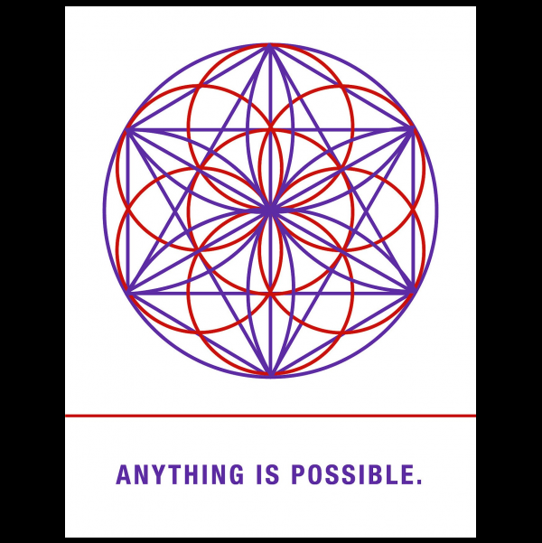 Anything is possible. greeting card from the Empowerments collection.