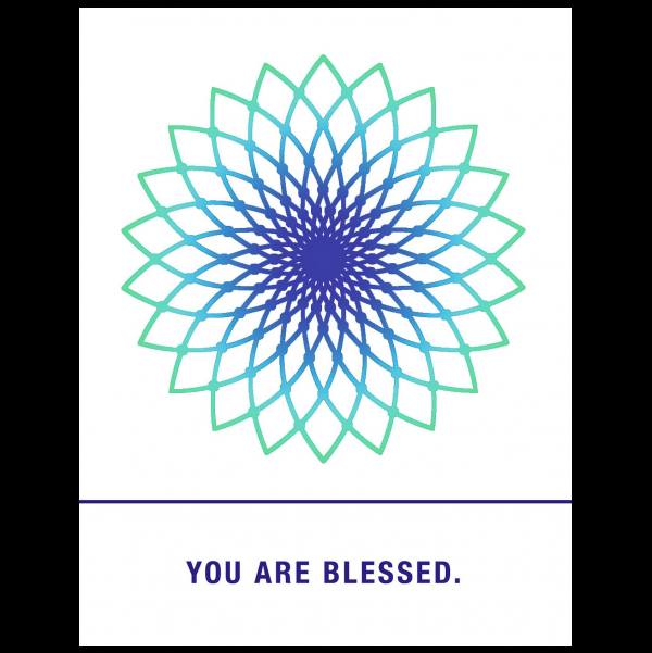 You are blessed. greeting card from the Empowerments collection.