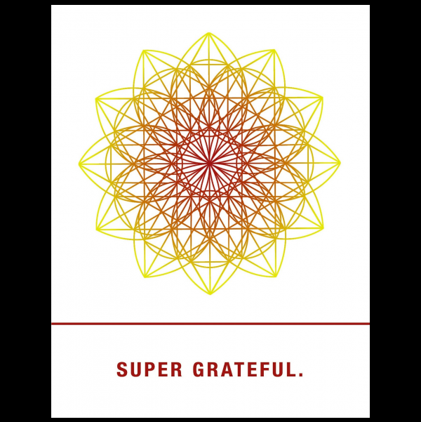 Super grateful. greeting card from the Empowerments collection.