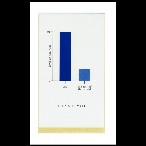 Thank You greeting card from the Graphitudes collection.