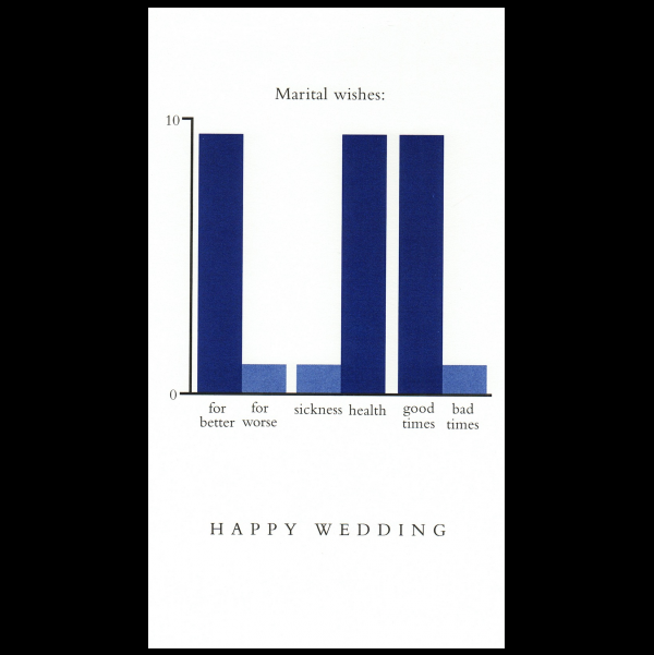 Wedding greeting card from the Graphitudes collection.