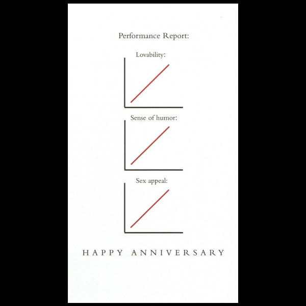 Anniversary greeting card from the Graphitudes collection.