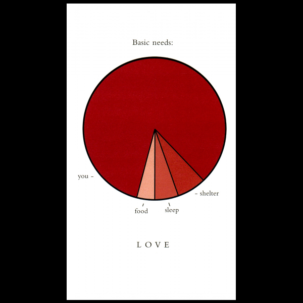 Love greeting card from the Graphitudes collection.