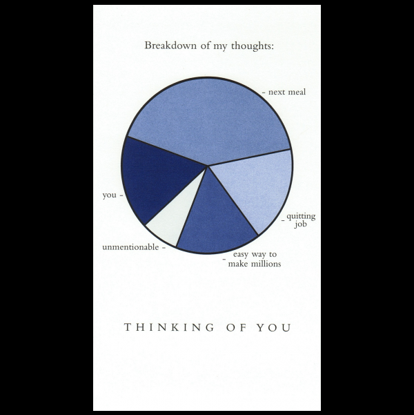 Thoughts greeting card from the Graphitudes collection.