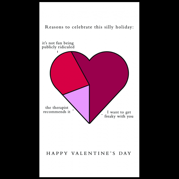 Valentine's greeting card from the Graphitudes collection.