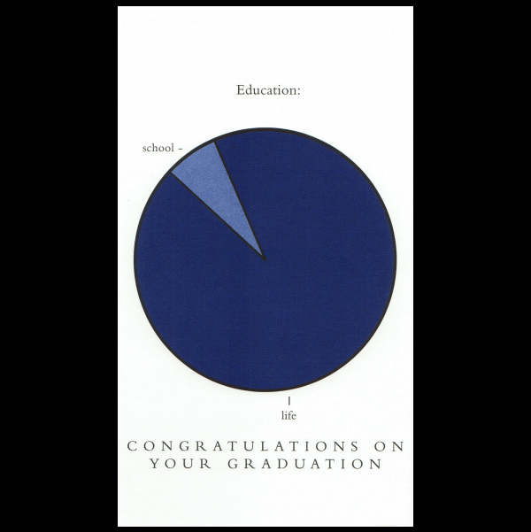 Graduation greeting card from the Graphitudes collection.