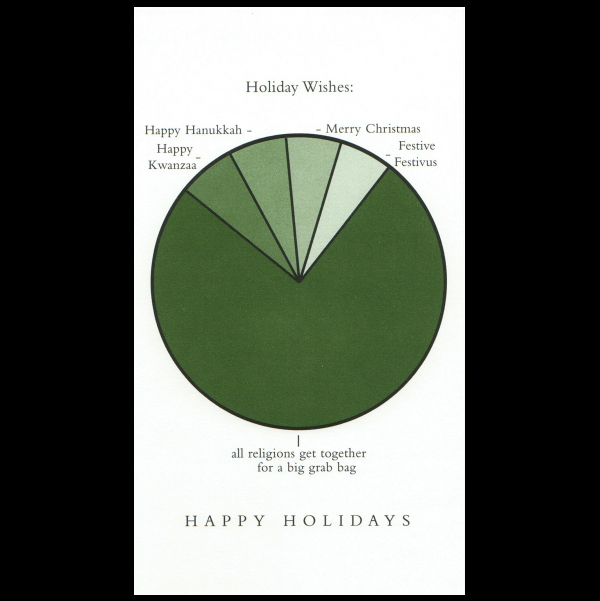 Holiday Wishes greeting card from the Graphitudes collection.