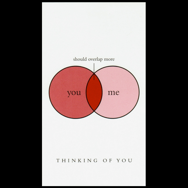 Thinking of You greeting card from the Graphitudes collection.
