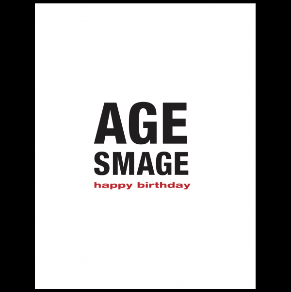 Age Smage greeting card from the Black & White New Year Cards collection.