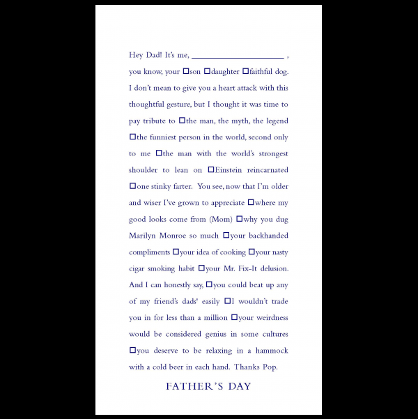 Father's Day greeting card from the Clever Cards collection.