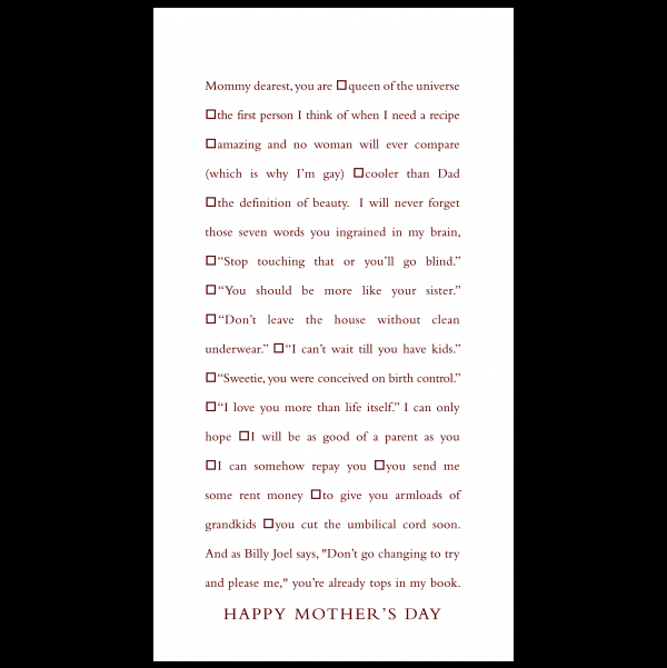 Happy Mother's Day greeting card from the Clever Cards collection.