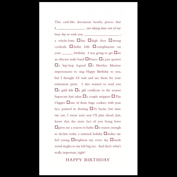 Happy Birthday greeting card from the Clever Cards collection.