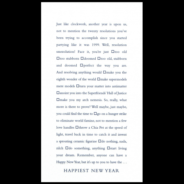 Happiest New Year greeting card from the Clever Cards collection.