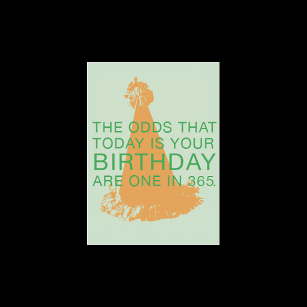 Birthday greeting card from the Respondables collection.