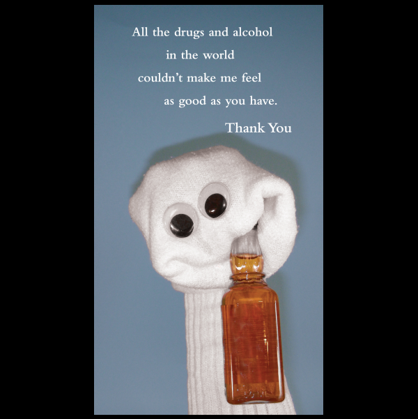Thank You greeting card from the Sock 'ems collection.