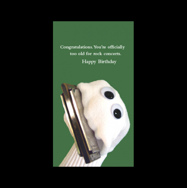 Rock concert Birthday card greeting card from the Sock 'ems collection.