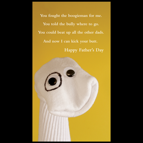 Father's Day card greeting card from the Sock 'ems collection.