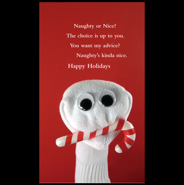 Quiplip - Naughty holiday card greeting card from the Sock ...