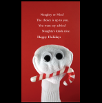 Naughty holiday card