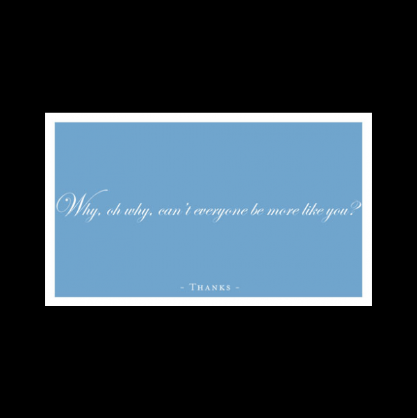 Thank you Card greeting card from the Semimentals collection.
