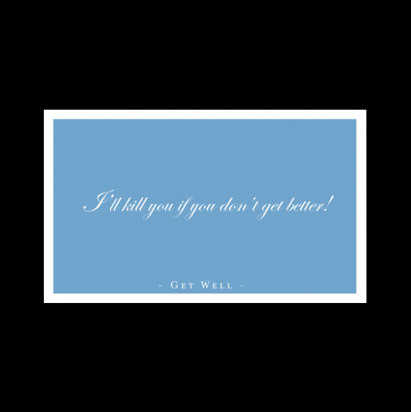 Funny Get Well Card greeting card from the Semimentals collection.
