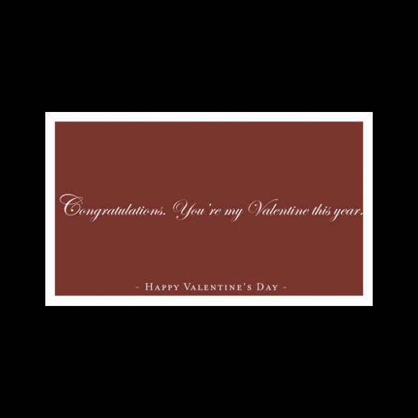 Funny Valentine's Card greeting card from the Semimentals collection.