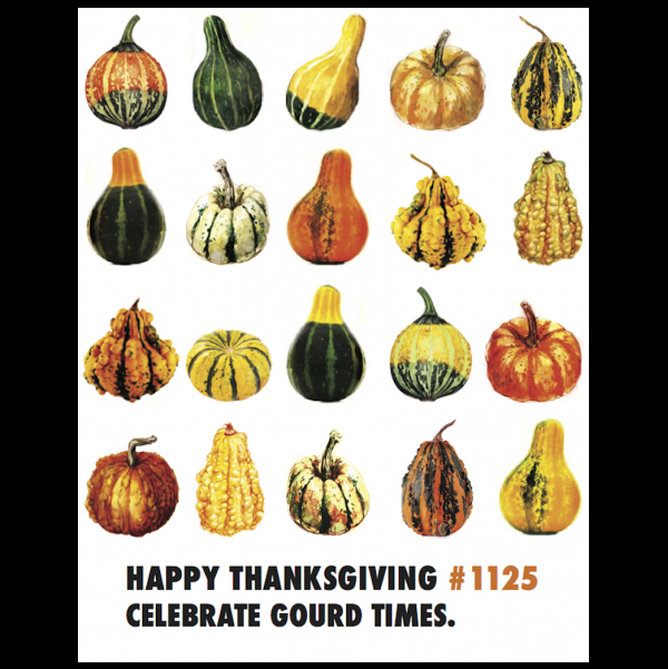 Thanksgiving Gourd greeting card from the Unsolicited Inspirations collection.