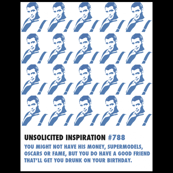 Birthday George Clooney greeting card from the Unsolicited Inspirations collection.