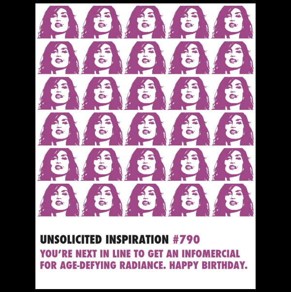 Birthday Age Defying Cindy Crawford greeting card from the Unsolicited Inspirations collection.