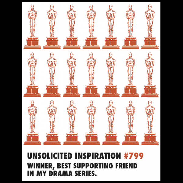 Friendship Oscar greeting card from the Unsolicited Inspirations...NEW! collection.