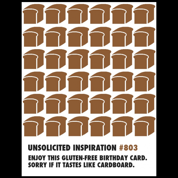 Gluten-Free Birthday greeting card from the Unsolicited Inspirations collection.