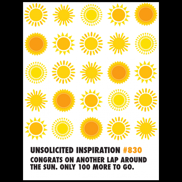 Birthday Sun greeting card from the Unsolicited Inspirations collection.