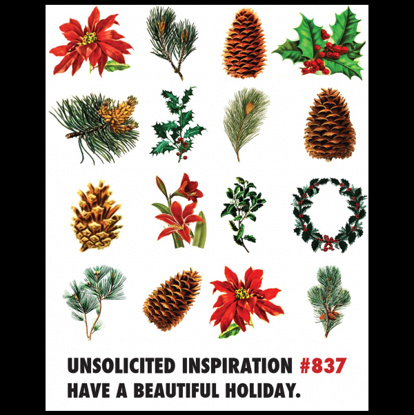 Beautiful Christmas greeting card from the Unsolicited Inspirations...NEW! collection.