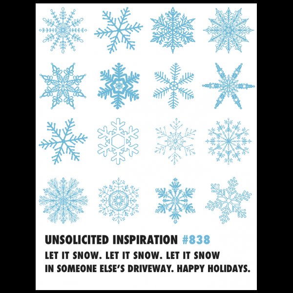Let It Snow greeting card from the Unsolicited Inspirations collection.