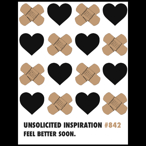 Feel Better greeting card from the Unsolicited Inspirations collection.