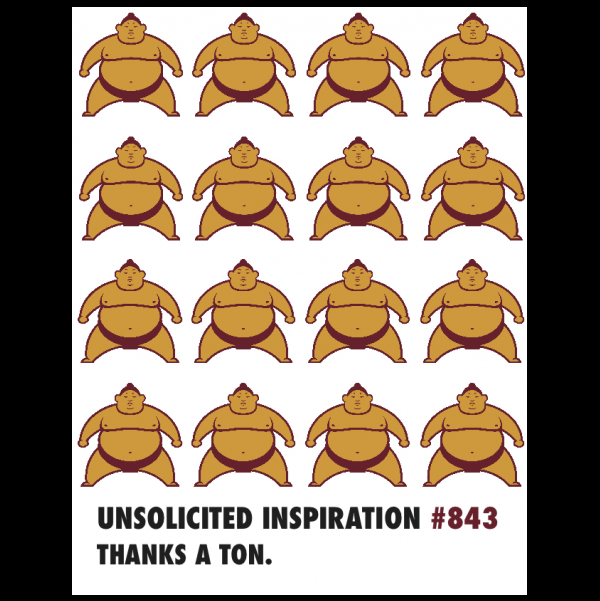 Thanks a Ton greeting card from the Unsolicited Inspirations collection.